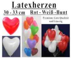 g nstige herzluftballons ballongas helium luftballons. Black Bedroom Furniture Sets. Home Design Ideas