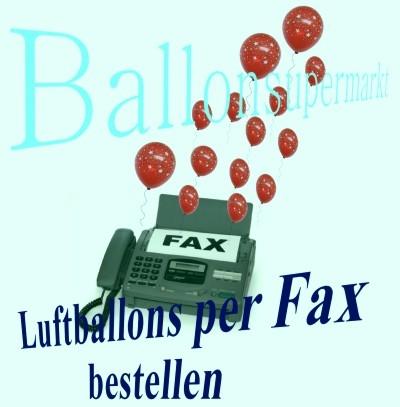 Luftballons per Fax bestellen