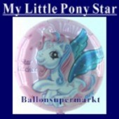 Luftballon Little Pony Star II, Folienballon mit Ballongas (FHGE75)