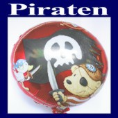 Luftballon: Piraten, Folienballon mit Ballongas (FHGE-Piraten-Luftballon-665797)