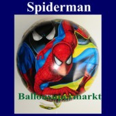 Luftballon Spiderman, Folienballon mit Ballongas (FHGE Spiderman-Ballon-17465)