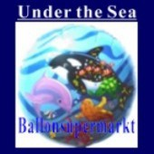 Luftballon Under the Sea, Folienballon mit Ballongas (FHGE77)